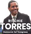 Ritchie J. Torres Currently an NYC Council member representing Bronx, but he's running for US Congress for New York's 15th Congressional District and we need him to win!!