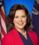 Governor Gretchen Whitmer Born and raised in Michigan. Wife, mom, educator, former prosecutor, State Representative and Senator, and a GREAT leader for any state. Clean water, equality, equal pay and forward-thinking.